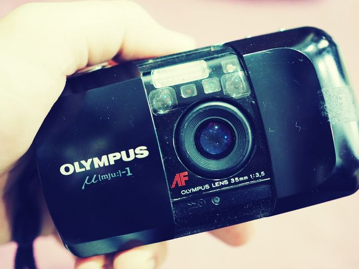 Vintage Vintage Camera Camera Olympus Compact Camera Old Camera Object In Hand Lieblingsteil