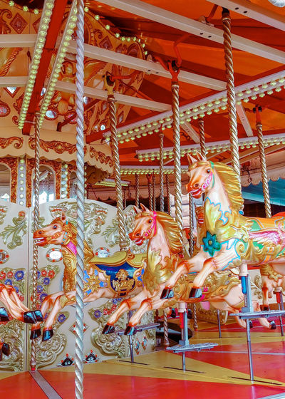 View of carousel at amusement park
