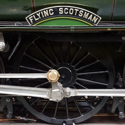 Flyingscotsman Steamtrain Train Wheel