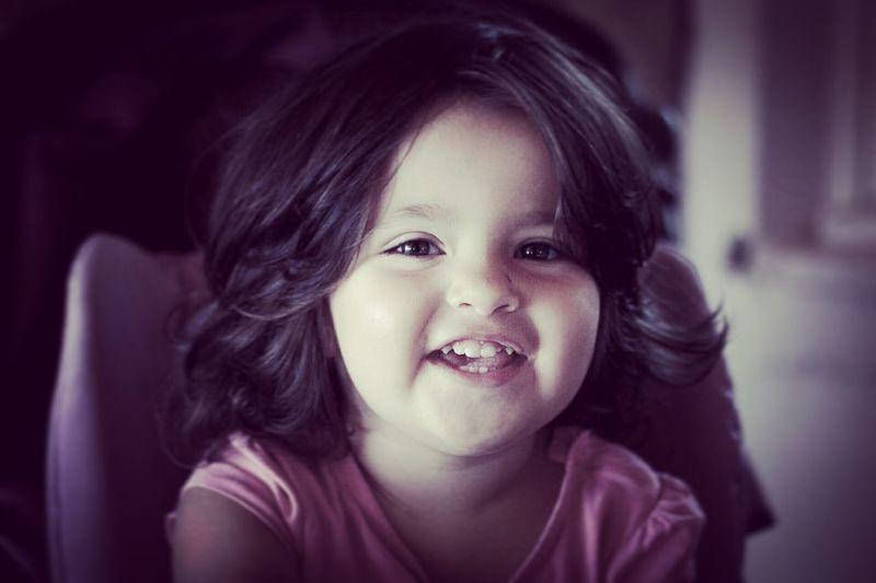 Happiness Daughter Smile Children Childhood Girl