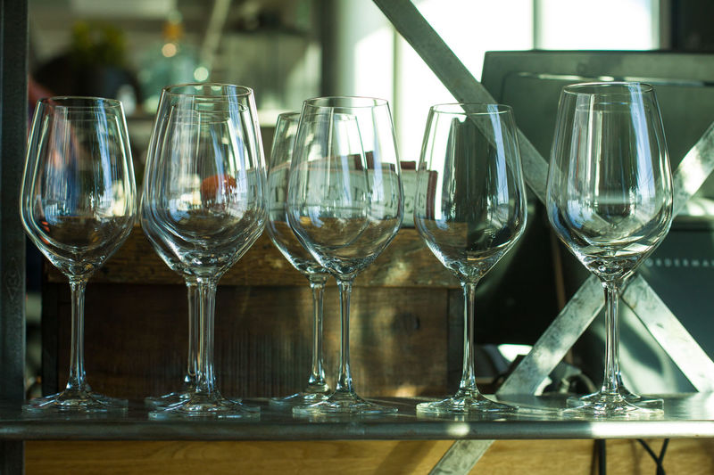 Glass - Material Transparent Wineglass Glass Wine Table Food And Drink Refreshment Focus On Foreground No People Drinking Glass Reflection Indoors  Household Equipment Still Life Close-up Container