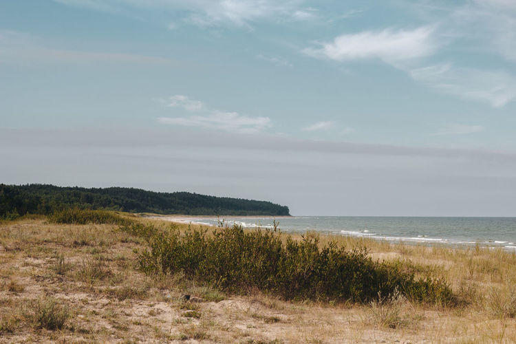 Latvia Latvija Beach Beauty In Nature Cloud - Sky Day Environment Grass Horizon Horizon Over Water Land Marram Grass Nature No People Non-urban Scene Outdoors Plant Scenics - Nature Sea Sky Tranquil Scene Tranquility Ventspils Water