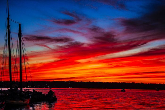 We'll sail away in a sea of passion...setting our souls on fire...burning endlessly with our love...feverish with our desire Photography From The Heart Poetic Beauty Passion Love Sky Collection Sun_collection Sunset Silhouettes Skyporn