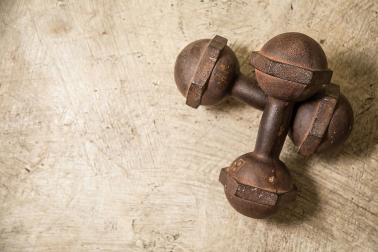 Close-up Dirty Dumbbells Gym Time Indoors  No People Rusty Vintage Cars
