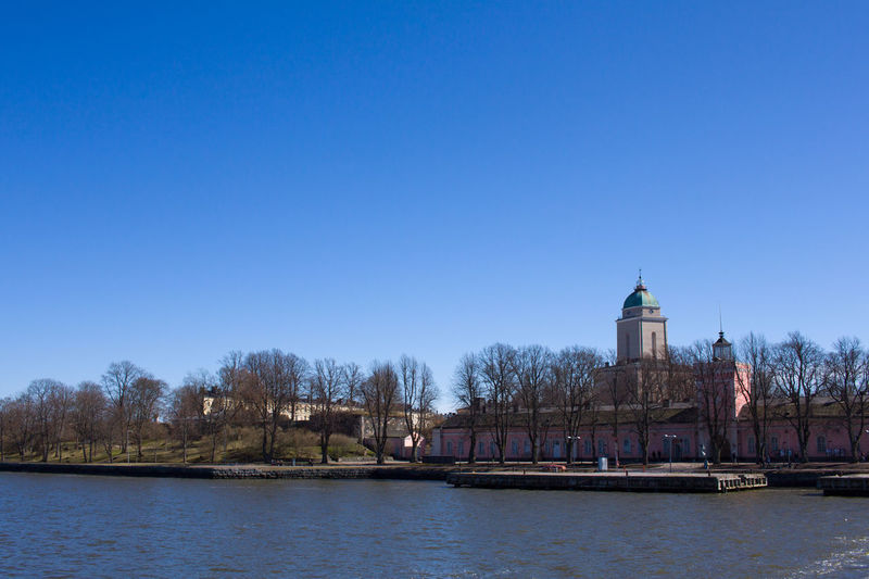 Architecture Blue Building Exterior Built Structure Clear Sky Day History Nature No People Outdoors Sky Suomenlinna Tourism Travel Travel Destinations Water Waterfront