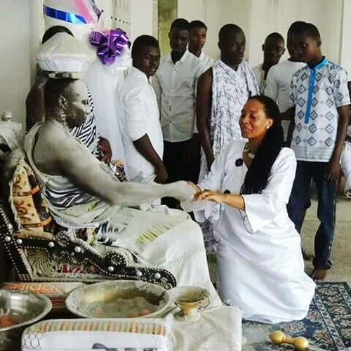 Nana Gyeaboo... Traditional Culture People Women Day Real People Priestess Priest Ghana Woman Man Kumasi Akan Two People Togetherness