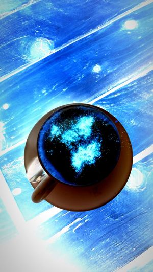 Blue High Angle View No People Water Close-up Day Indoors  Universe Life Te Thiking Galaxy Sky Abstract Full Frame Funny Hello World Garelly Market Cup Of Tea