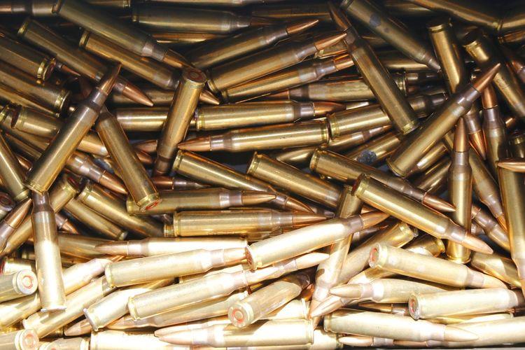 Full Frame Shot Of Ammunition