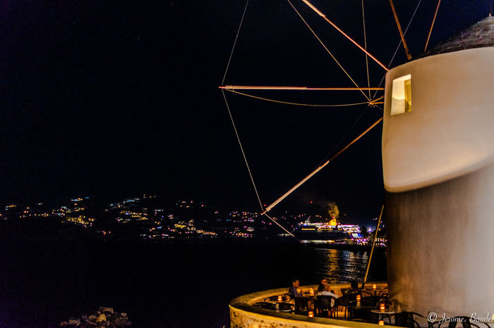 Paros Santorini Island Travel Windmill Architecture City Illuminated Night Santorini HUAWEI Photo Award: After Dark