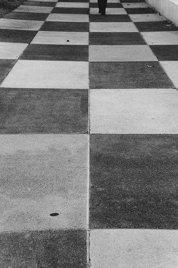 Bangkok Block Chessboard Pattern Geometric Shape Ground Outdoors Road Square Shape Thailand Walking