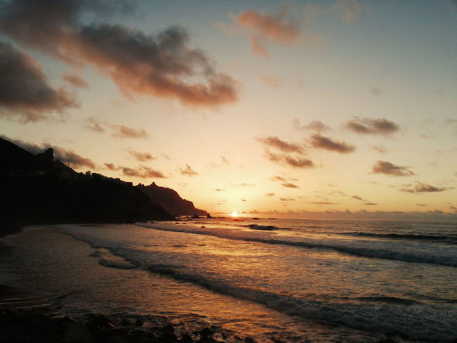 Water Wave Sea Sunset Beach Low Tide Dramatic Sky Horizon Tide Reflection