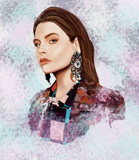 Drawing Digital Art #sketch #art #MyArt Fashion Illustration One Woman Only Portrait