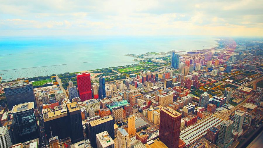 A nice view on the 103rd floor 😍 Cityscapes Chicago Skydeck Willis Tower Willistower Skydeck At Willis Tower Landscape Canon600D Traveling