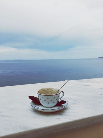 Water Sky Fog Day Outdoors No People Travel Destinations Beauty Sea Clear Sky Rear View Harbor Tranquility Syros Aegean Sea Scenery Coffee Sanity Break Infinity Nature_collection