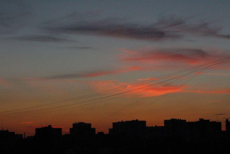 City Evening Evening Sky Sky Sky And Clouds город вечер Вечернее_небо Вечернее_небо небо небо и облака облака Clouds Orange Blue оранжевый синий EyeEm Best Shots - Sunsets + Sunrise Sunset Закат