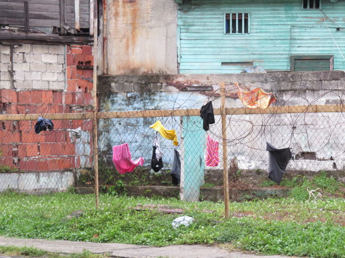 Architecture Barb Wire Fence Building Exterior Built Structure Clothes Line Clothing How The Locals Live Laundry Life Through My Eyes Old Panama Outdoors Panamá Street Photography Travel The World