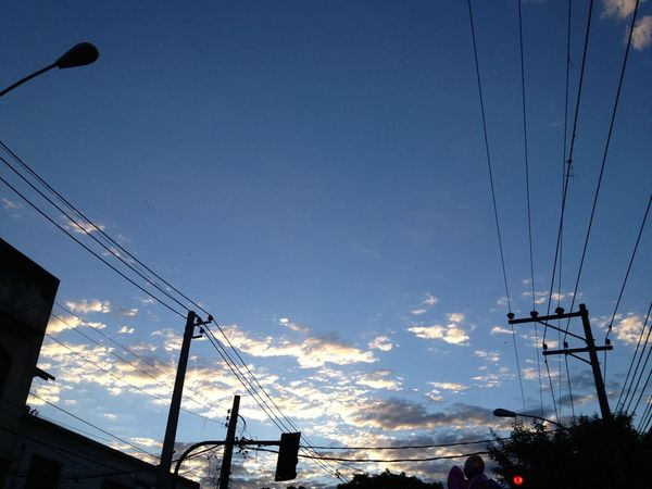 #sky #taking photos #são Jorge Sunset Power Lines Sky_collection Eye4photography