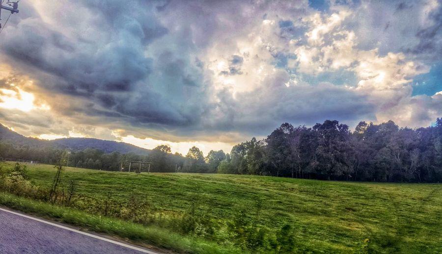 Mountain Sunset Agriculture Rural Scene Space Tree Field Dramatic Sky Sky Cloud - Sky