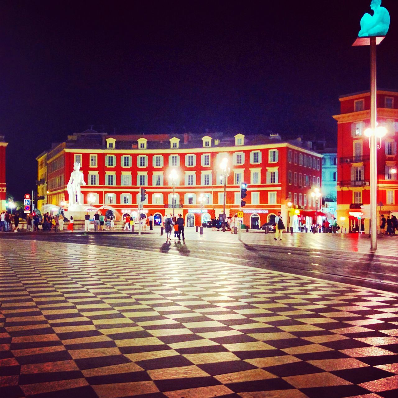 People Visiting At Illuminated Place Massena