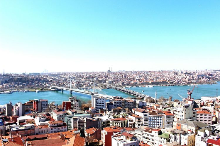 Flying High Cityscape City Urban Skyline Dusk Travel Destinations Business Finance And Industry Sky No People Sunset Building Exterior Architecture Outdoors Night Skyscraper Downtown District Turkey Istanbul Istanbul City Galatatower Galatakulesi Photography Travel Blue