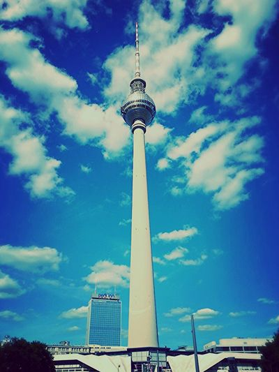 Battle Of The Cities Berlin Communications Tower Berlin Photography City Tourism Site Seeing Smartphone Photography Smartphonephotography Blue Sky Blue Sky And Clouds Places I've Been Built Structure