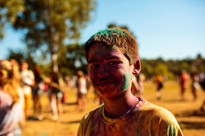 Celebration Holi Festival Color Kid One Person Vitebsk