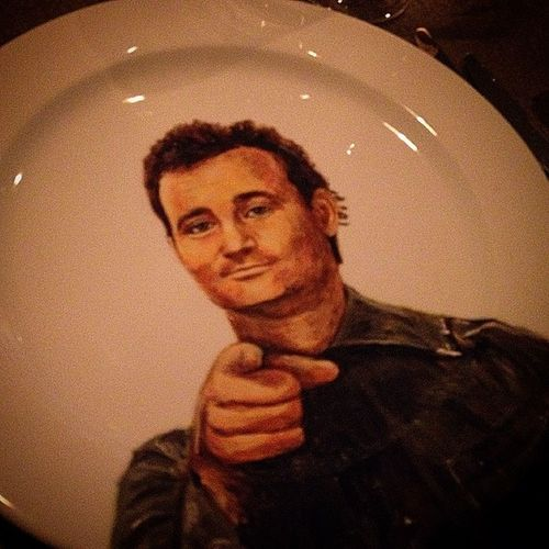 Bill Murray want YOU to eat off of his face. Wait, what? Purewine @iyellowwineclub @ritzcarlton