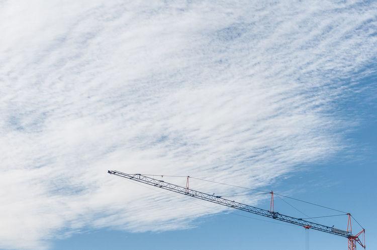APS-C DSLR Cloud - Sky Construction Industry Crane Crane - Construction Machinery Development No People