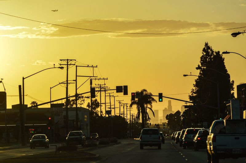 Urban orange Stifanibrothers Car Land Vehicle Transportation Sunset Road Sky Mode Of Transport Built Structure Outdoors Cloud - Sky No People City Architecture Nature Day