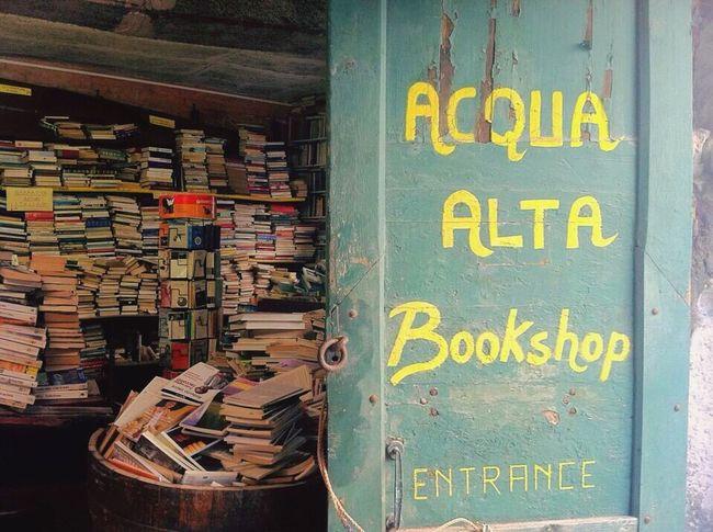 My Favorite Place Venice, Italy Acquaaltaavenezia Books Bookshop Acqua Alta
