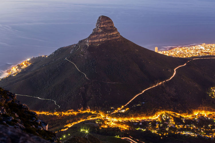 Aerial View Cape Town Cape Town, South Africa Cityscape Climbing Climbing A Mountain Landscape Lion's Head Long Exposure Long Exposure Shot Mountain Mountain Range South Africa Sunset Table Mountain Travel Destinations Travel Photography