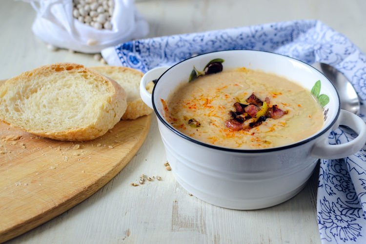 Comfort Food Homemade Food Bowl Bread Chowder Close-up Cozy Moments Day Food Food And Drink Freshness Healthy Eating Home Meal Indoors  No People Ready-to-eat Serving Size Soup Table White Beans Winter Foods