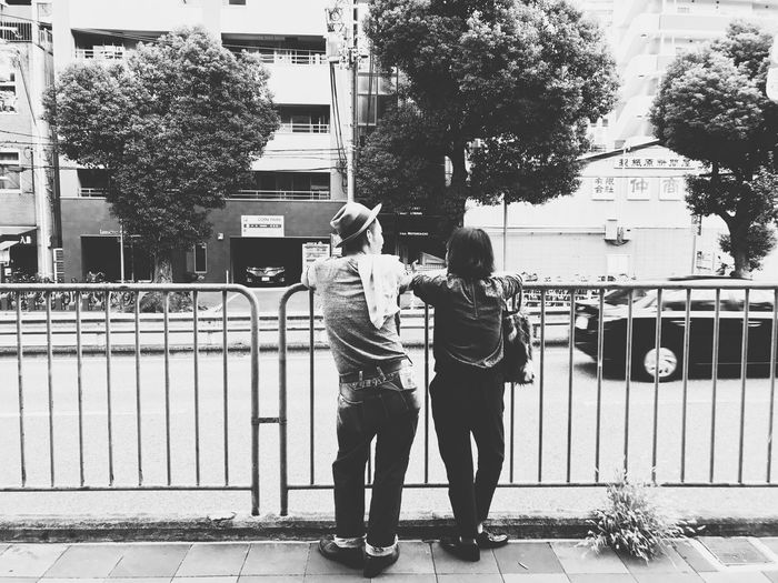 happy time Life Kobe Bw Street Monochrome Real People City Two People Day