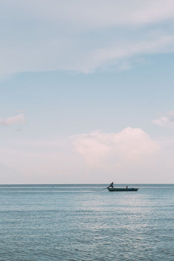 Vietnam Beauty In Nature Cloud - Sky Day Fisherman Fishing Horizon Over Water Nature Nautical Vessel No People Outdoors Phu Quoc Scenics Sea Sky Tranquil Scene Tranquility Transportation Water Waterfront