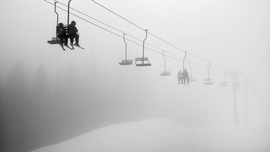 It's Cold Outside My Winter Favorites Chairlift Mountains Ski Area Ski Resort  Eerie Eery Negative Space Skiing Smart Simplicity B&w Photography Vanishing Point Shades Of Grey Share Your Adventure Adventure Buddies A vanishing chairlift at Mission Ridge, WA. People Together Snow Sports Finding New Frontiers Be. Ready. Black And White Friday