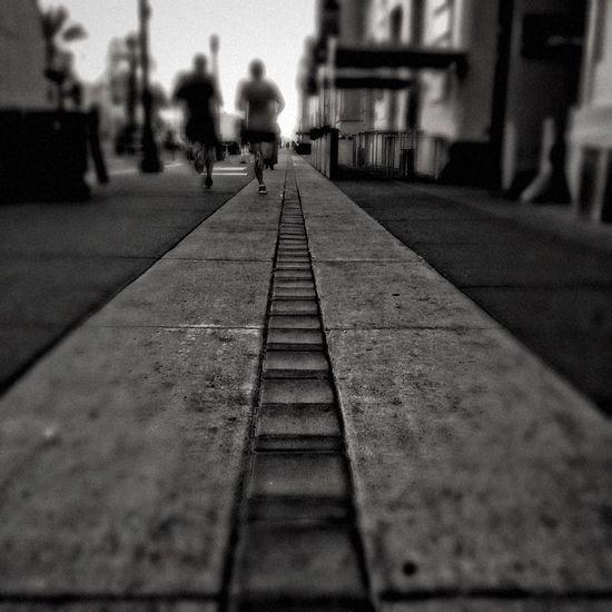 Streetphotography San Francisco B&w Running, Urban Landscape
