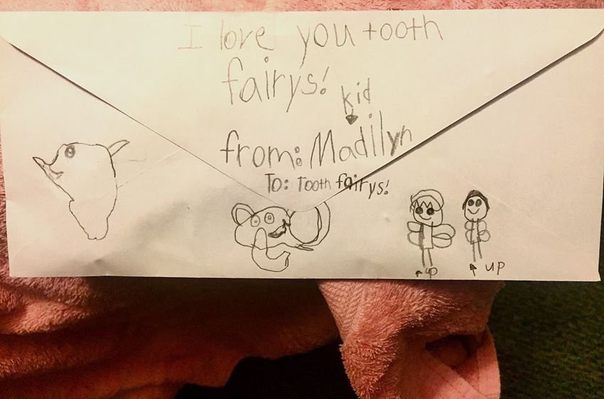 My Oldest Has Lost Her Tooth- Moments Mom Tooth Envelope Cute Daughter Letters Youth Tradition Culture Rite Of Passage Growing Kids Children Childhood Toothfairy