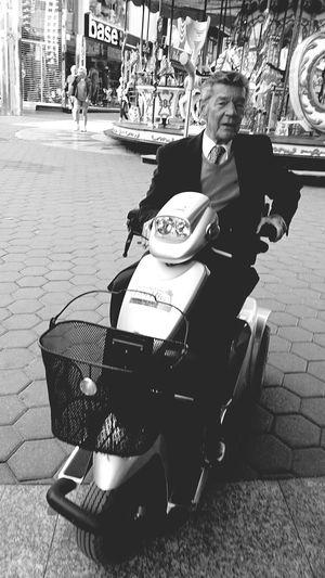 Street Photography Like A Boss on a Scootmobiel Benidorm Basterds Senior Adult