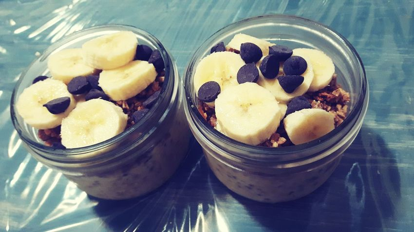 Foodphotography Food Oatmeal Banana Chocolate Chip Chocolate Breakfast Morning Early Morning Yummy♡