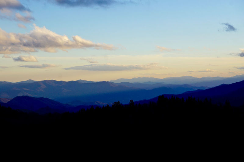Great Smoky Mountains  Great Smoky Mountains National Park Beauty In Nature Landscape Mountain Mountain Range Nature Outdoors Scenics Sky Sunset Tranquil Scene Tranquility