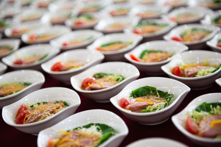 Full Frame Shot Of Food In Bowls On Table