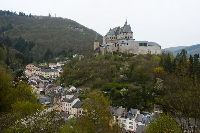 Vianden Castle - Luxembourg Luxembourg Architecture Built Structure Town Vianden Vianden Castle