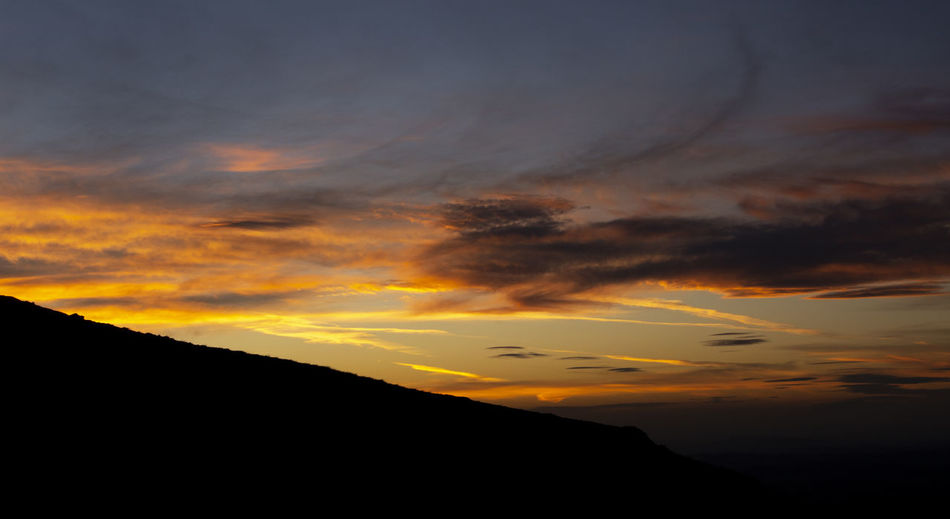 Vivid sunset Malvern Hills Sunset_collection Beauty In Nature Cloud - Sky Dramatic Sky Environment Idyllic Landscape Low Angle View Majestic Mountain Mountain Peak Nature No People Non-urban Scene Orange Color Outdoors Scenics - Nature Silhouette Sky Sunset Tranquil Scene Tranquility
