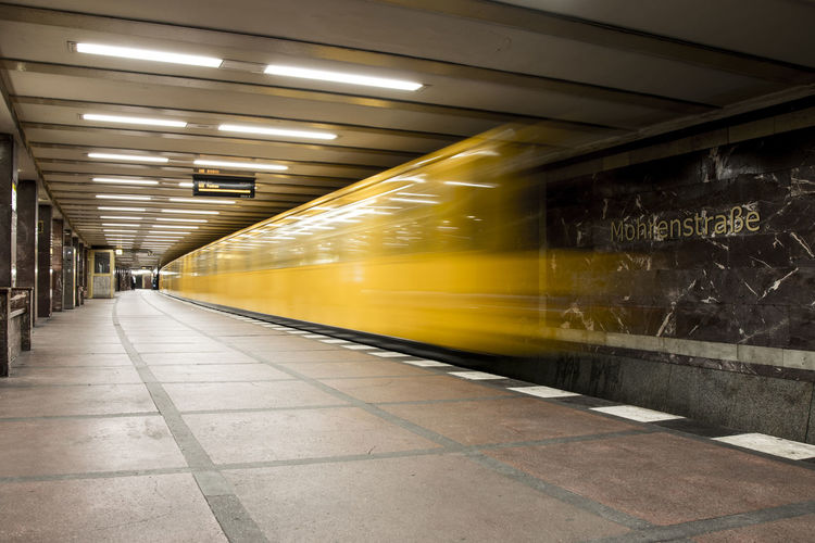 Metro leaving the station Berlin Berlin Subway Metro Paint The Town Yellow Public Transportation Blurred Motion Germany Gold Lettering Metro Station Mohrenstraße Moving Train No People Public Transportation Rail Transportation Railway Speed Subway Subway Station Subway Train Train - Vehicle Transportation Yellow Yellow Metro Yellow Subway Yellow Transportation