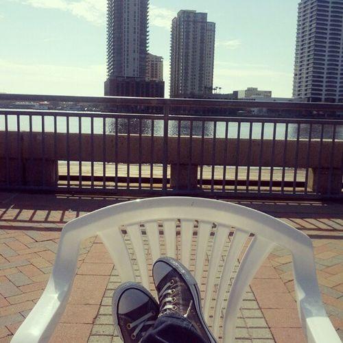 Enjoying downtown Jax.