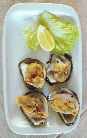 Thw magic of oysters... Oyster  Plate Food Croatia Ston Mediterranean