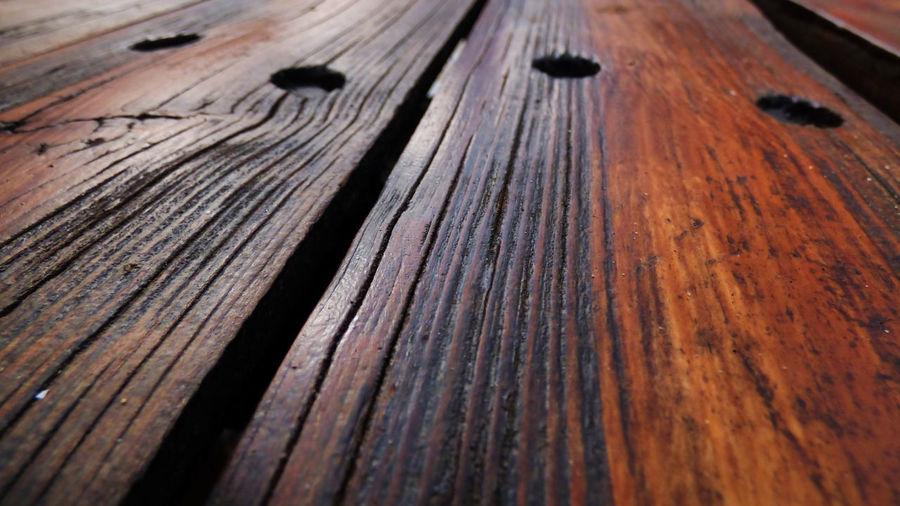 Full frame shot of wooden bench
