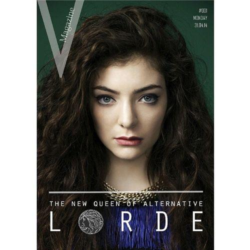 Lorde Vmagazine Magazine Desing desingme vsco @lordemusic