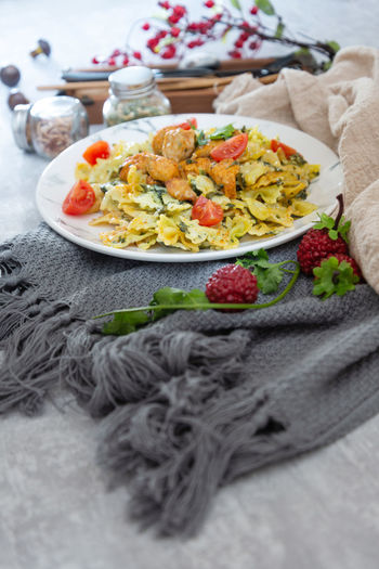 Food Food And Drink Freshness Healthy Eating Plate Still Life Indoors  Selective Focus Ready-to-eat No People Table Vegetable Wellbeing Textile Close-up Napkin Serving Size Meal High Angle View Fruit Vegetarian Food Crockery