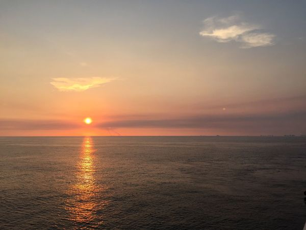 Sea Sunset Horizon Over Water Sky Scenics Beauty In Nature Sun Tranquility Water Nature Tranquil Scene No People Idyllic Outdoors Day